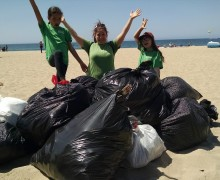 Sydney and Johanna beach clean up
