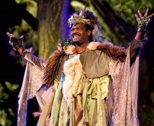 "Michael McFall in Theatricum Botanicum's ""A Midsummer NIght's Dream"" Photo by Miriam Geer"