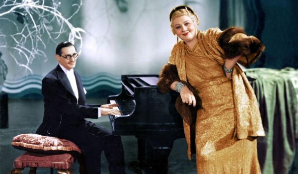 SOPHIE TUCKER         PHOTO Diego 18- 1934- Amsterdam, w Ted at piano1