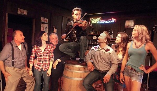 "Cast of Ruskin Group Theatre's world premiere country musical, ""Sneaky Ole Time"""