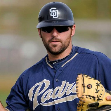 PEORIA, AZ - FEBRUARY 21: San Diego Padres' Cody Decker #79 during a team workout at Spring Training on Friday February 21, 2014 in Peoria, AZ. (Photo by Scott Wachter) *** LOCAL CAPTION *** workout;Cody Decker