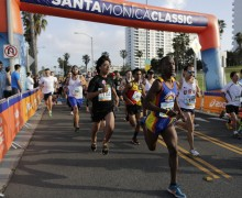 Santa Monica Classic 5k and 10k road races produced by LA Marathon in Santa Monica, California.