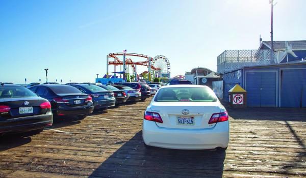car on pier