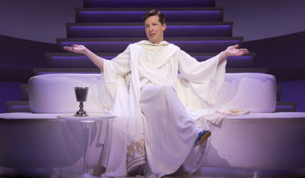 "Sean Hayes as God in ""An Act of God,"" written by God, transcribed by David Javerbaum and directed by Joe Mantello. ""An Act of God"" is now playing at the Center Theatre Group/Ahmanson Theatre through March 13, 2016. Tickets are available at CenterTheatreGroup.org or by calling (213) 972-4400. Contact: CTG Media and Communications / (213) 972-7376 / CTGMedia@ctgla.org Photo Credit: Jim Cox"